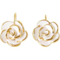POPORCELAIN - Golden White Cloud Rose Hook Earrings found on Bargain Bro from Wolf & Badger US for USD $264.48