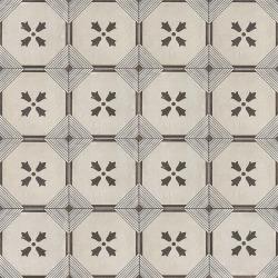 """Palazzo 12"""" x 12"""" Decorative Tile in Castle Graphite Dynasty"""