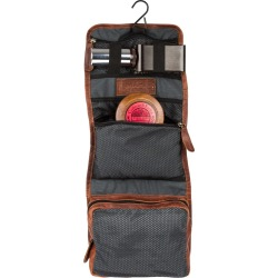 MAHI Leather - Leather Hanging Wash Toiletry Bag Dopp Kit In Vintage Brown With Hook found on MODAPINS from Wolf and Badger for USD $73.03