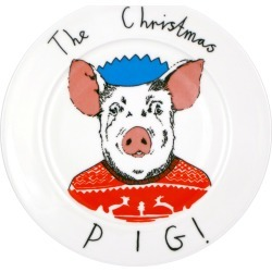 Jimbob Art - The Christmas Pig Plate found on Bargain Bro UK from Wolf and Badger