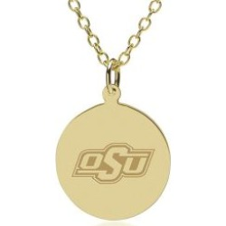 Oklahoma State 14K Gold Pendant and Chain