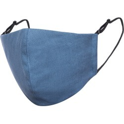 Face My Mask - Air Force Blue Linen Cotton Face Mask With Filter Pocket