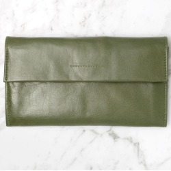 Arlo Leather Wallet Olive found on Bargain Bro India from hardtofind.com.au for $87.57