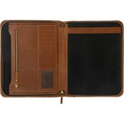 VIDA VIDA - Luxe Tan Leather Document Holder found on Bargain Bro from Wolf and Badger for £126