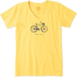 Life Is Good Women's Mobile Device Bike Cool Tee