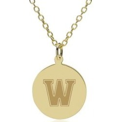 Williams College 14K Gold Pendant and Chain