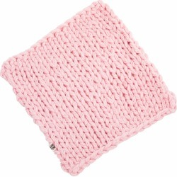 Handsome Badger - Higg Baby Blanket in Baby Pink