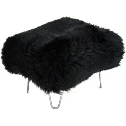 Sara - Sheepskin Footstool Coal Black found on Bargain Bro UK from Clippings