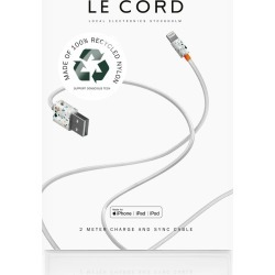 Le Cord - Terrazzo - iPhone Cable Made With Recycled Braiding found on Bargain Bro UK from Wolf and Badger