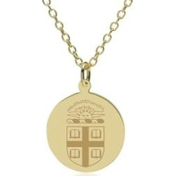 Brown 14K Gold Pendant and Chain