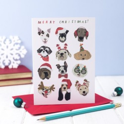 Dogs Christmas cards (pack of 5)