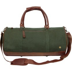 MAHI Leather - Gym Duffle In Green Canvas & Brown Leather found on Bargain Bro UK from Wolf and Badger