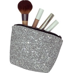 Stranger Than Them - Ophelia Small Silver Glitter Make Up Bag found on Bargain Bro India from Wolf & Badger US for $74.00