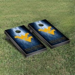 West Virginia Mountaineers Cornhole Game Set Metallic-Look