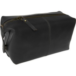 VIDA VIDA - Classic Black Leather Wash Bag found on Bargain Bro from Wolf & Badger US for USD $68.40