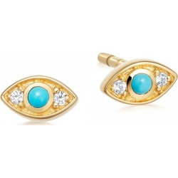 Astley Clarke - Tiny Biography Evil Eye Stud Earrings found on MODAPINS from Wolf & Badger US for USD $108.00
