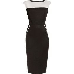 Rumour London - Kensington Black & Cream Ribbed Viscose Pencil Dress found on MODAPINS from Wolf & Badger US for USD $322.00