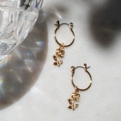 Capulet's Curse Gold-Filled Mini Hoop Earrings