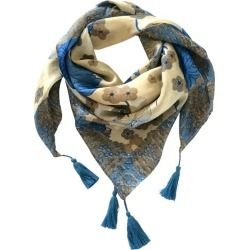 Anais silk scarf with tassels found on MODAPINS from hardtofind.com.au for USD $56.20