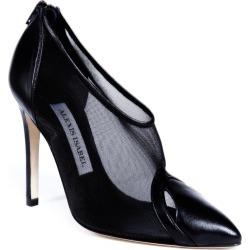 Women's Artisanal Black Leather Stella Mesh Pumps Shoes Heels 2.5 UK Alexis Isabel