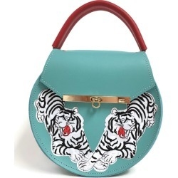 Angela Valentine Handbags - Loel Tiger Embroidered Top Handle Bag found on Bargain Bro UK from Wolf and Badger