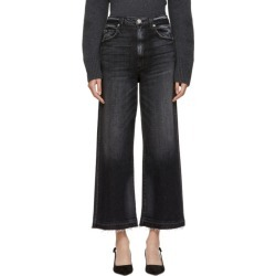 Amo Black Ava Cropped Jeans found on MODAPINS from ssense asia-pacific for USD $205.19