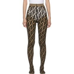 Fendi Brown and Black Forever Fendi Tights found on Bargain Bro India from ssense asia-pacific for $316.80