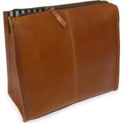 VIDA VIDA - Slim Jim Tan Leather Wash Bag found on Bargain Bro UK from Wolf and Badger