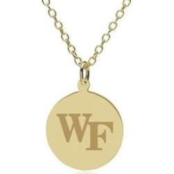 Wake Forest 14K Gold Pendant and Chain