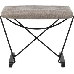 Spark Foot Stool RAL 9005 Black - Black Stained Oak - Camira MLF23 found on Bargain Bro UK from Clippings