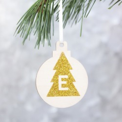 Personalised Initial Christmas Tree Bauble