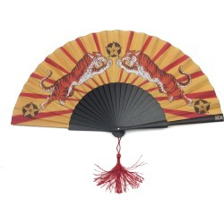 Khu Khu - Tiger Tiger Hand Fan found on Bargain Bro India from Wolf & Badger US for $58.00