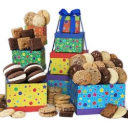 Happy Birthday Baked Goods Tower Care Package