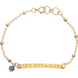 Amadeus - Karma Engraved Gold Chain Bracelet found on Bargain Bro India from Wolf & Badger US for $81.00