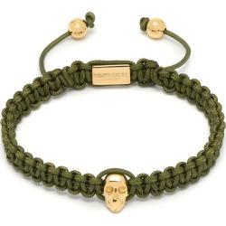 Northskull - Atticus Skull Macramé Bracelet In Olive & Gold found on MODAPINS from Wolf & Badger US for USD $136.00