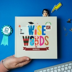 Wise(ish) Words For Graduates: Personalised Gift Book found on Bargain Bro India from hardtofind.com.au for $73.51
