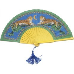 Khu Khu - Lazy Leopards Hand Fan found on Bargain Bro UK from Wolf and Badger