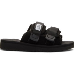 Suicoke Black Shearling-Lined Moto-M Sandals