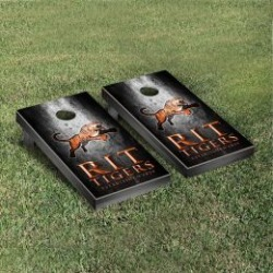Rochester Institute of Technology Tigers Cornhole Game Set Metallic-Look