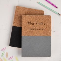 Personalised Vegan Cork Notebook For Teachers