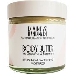 Divine And Handmade - Pink Grapefruit & Rosemary Natural Body Butter