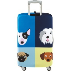 LOQI luggage cover cats and dogs collection in dogs