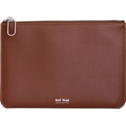 Jeff Wan - Leather Zip Clutch Saddle Port Louis Pouch found on Bargain Bro from Wolf & Badger US for USD $114.00