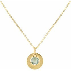 Auree Jewellery - Bali 9Ct Gold March Birthstone Necklace Blue Topaz found on Bargain Bro India from Wolf & Badger US for $645.00