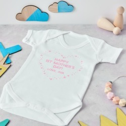 Personalised First Mother's Day Babygrow found on Bargain Bro India from hardtofind.com.au for $33.85