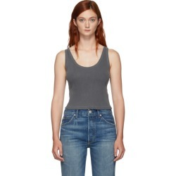 Amo Grey Rib Crop Tank Top found on MODAPINS from ssense asia-pacific for USD $79.72