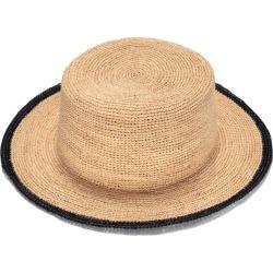 Justine Hats - Boater Raffia Hat