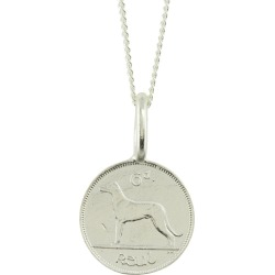 Katie Mullally - Irish 6D Coin Necklace In Sterling Silver found on MODAPINS from Wolf & Badger US for USD $196.00