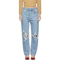 Agolde Blue 90s Mid Rise Loose Fit Jeans found on MODAPINS from SSENSE for USD $190.00