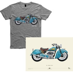 Indian chief motorcycle men's t-shirt + A2 Poster found on Bargain Bro India from hardtofind.com.au for $47.07